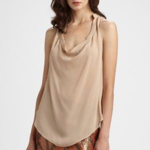 Haute Hippie Silk Cowl Neck Tank Blouse